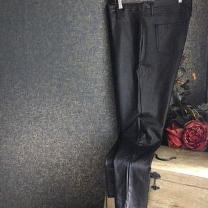 Sexy Wet Look Liquid Plus Size Pull On Pants